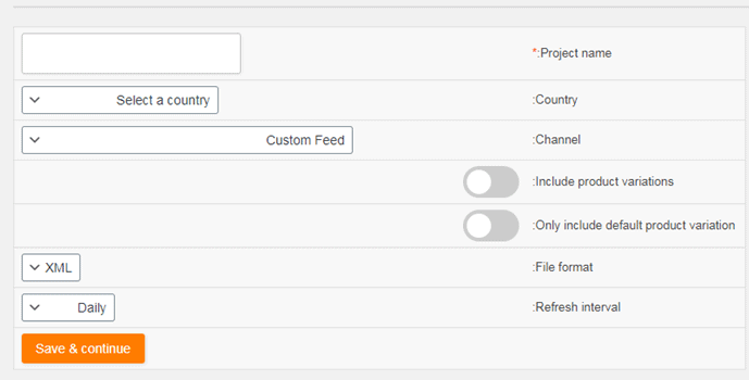 create goolge shopping feed